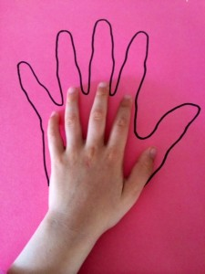Craft Ideas for Kids - Handprint suncatcher