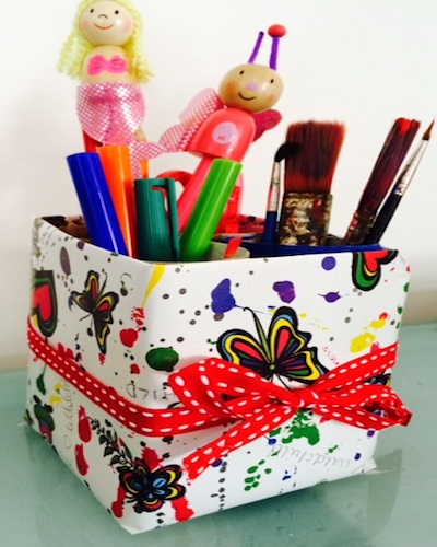 Craft Ideas For Kids   Stationary Box