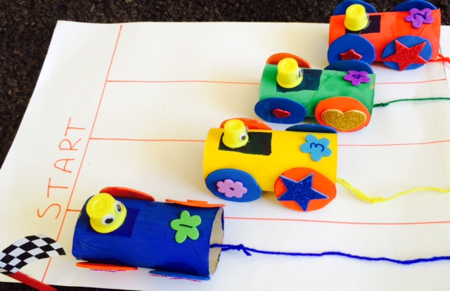 Craft Ideas for Kids - Wacky Races