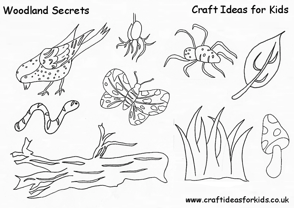 Craft Ideas for Kids - Woodland Secrets Free Printable