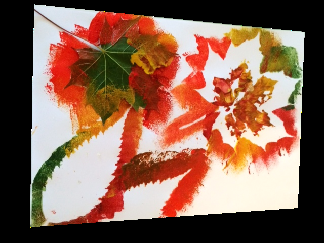 Autumn Leaf Painting - Craft Ideas for Kids