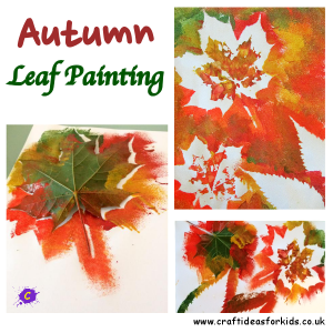 Craft Ideas for Kids - Autumn Leaf Painting