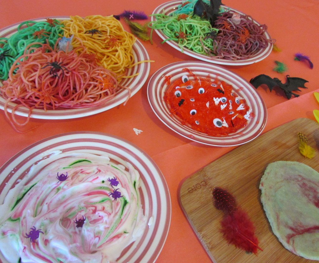 Craft Ideas for Kids - Halloween Sensory Play Monster Pizza Parlour