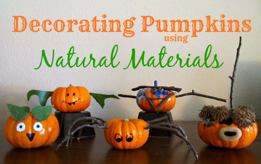 Craft Ideas for Kids - Decorating Pumpkins