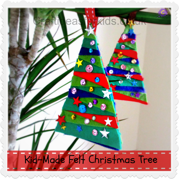 Christmas Felt Craft Ideas Part - 39: Craft Ideas For Kids - Felt Christmas Tree