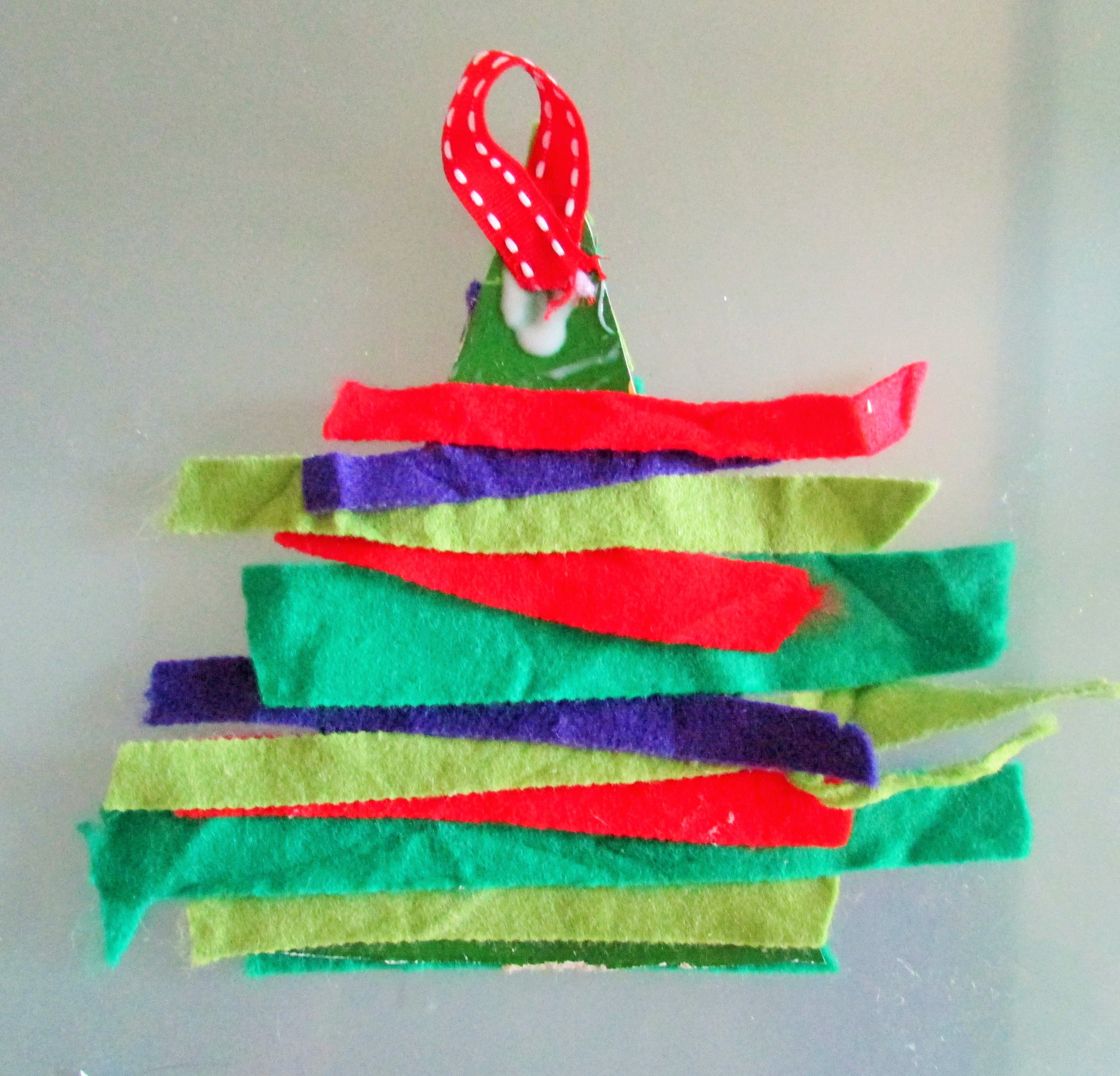 Felt Christmas Tree 10 Days Of Kid Made Ornaments