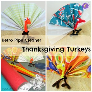Craft ideas craft ideas for kids for Pipe cleaner turkey craft