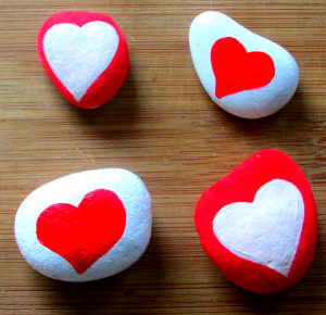 Craft Ideas for Kids - love rocks