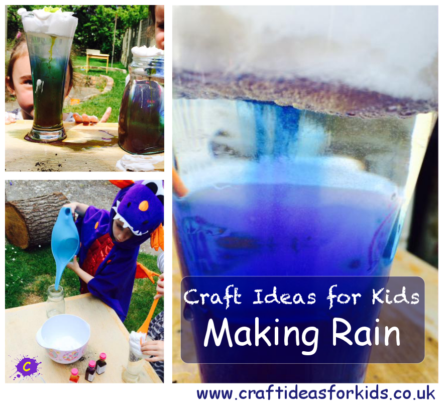 Craft Ideas for Kids - Making Rain