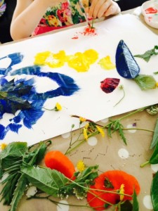 Craft-ideas-for-kids-flower-leaf-printing