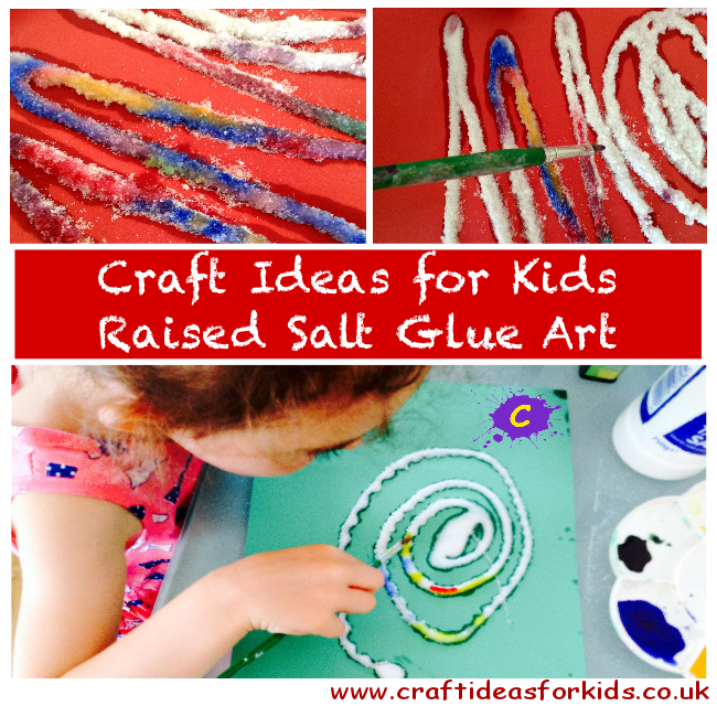 Craft Ideas for Kids - Salt Glue Art