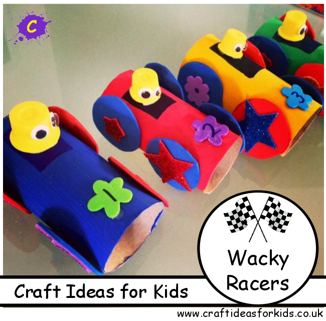 Craft Ideas for Kids - Wacky Racers