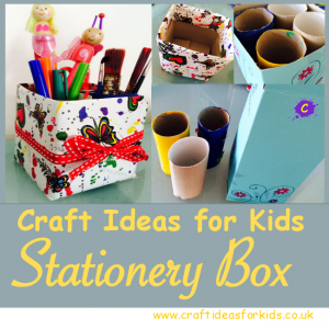 Upcycled Stationery Box