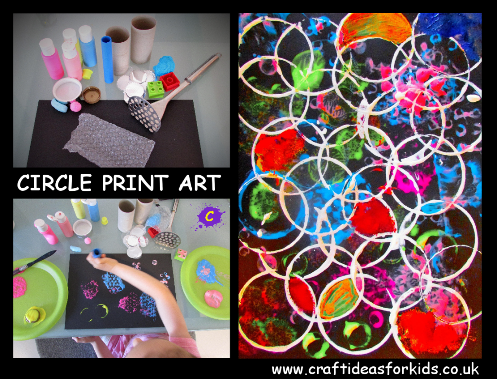 Craft Ideas for Kids - Circle Print Art