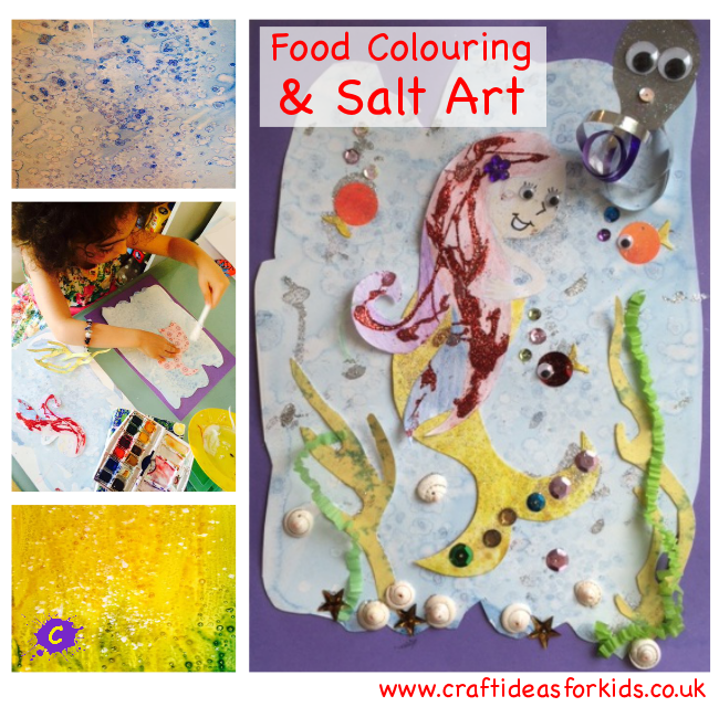ideas for art and craft food colouring salt craft ideas for 6821
