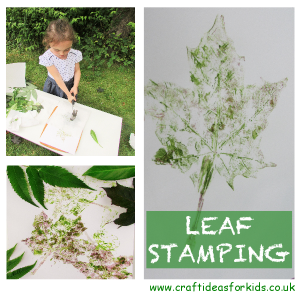 Craft Ideas for Kids - Leaf Stamping