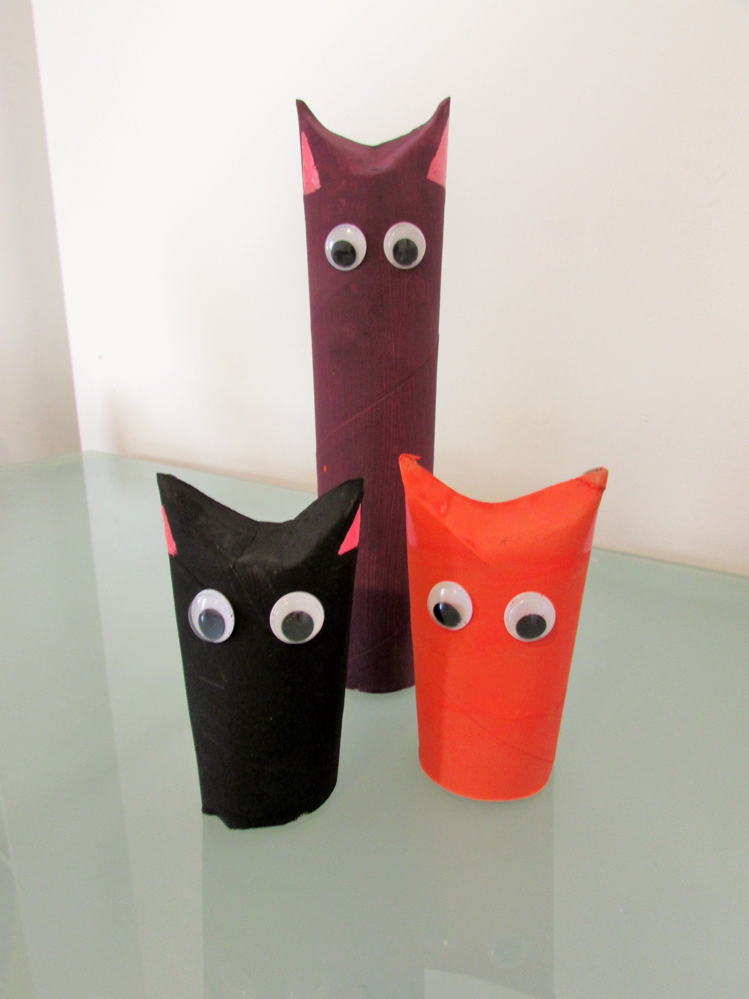 Toilet Roll Cats Craft Ideas For Kids