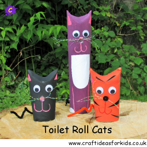 Craft Ideas for Kids - Toilet Roll Cats
