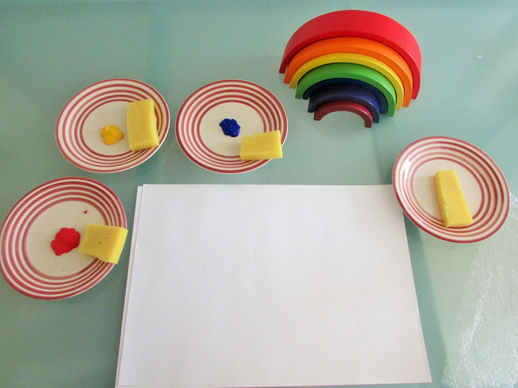 Craft Ideas for Kids - Rainbow Colour Mixing
