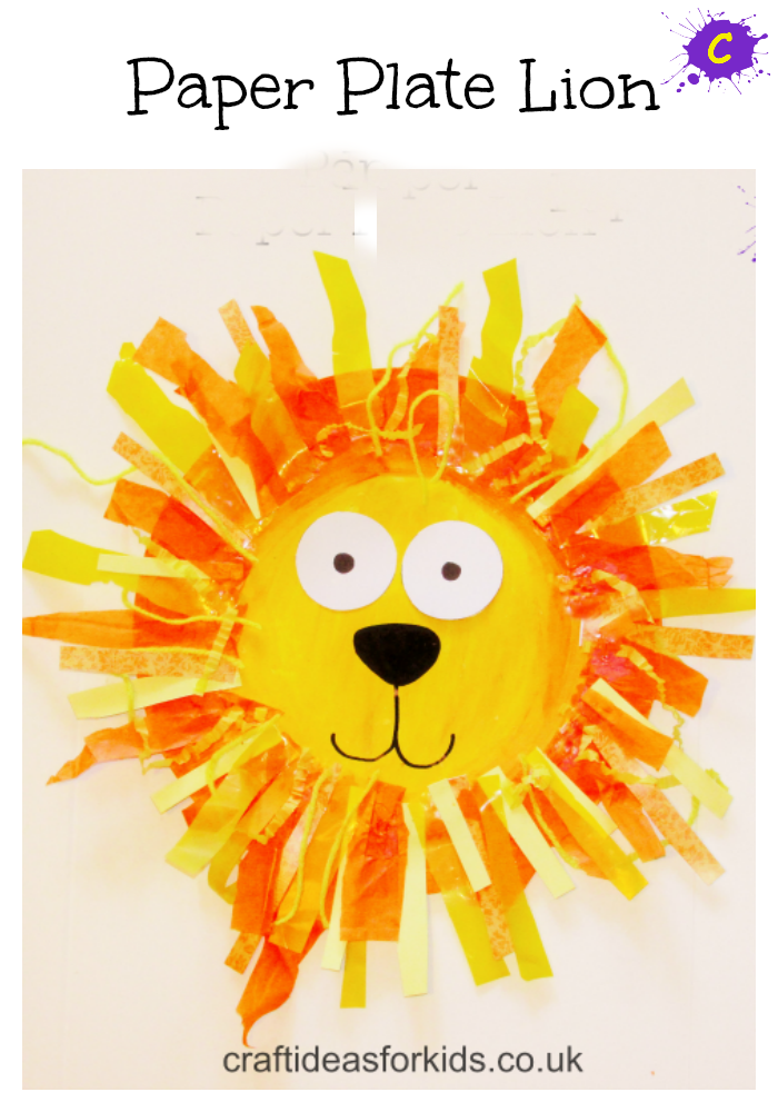Paper Plate Lion pin